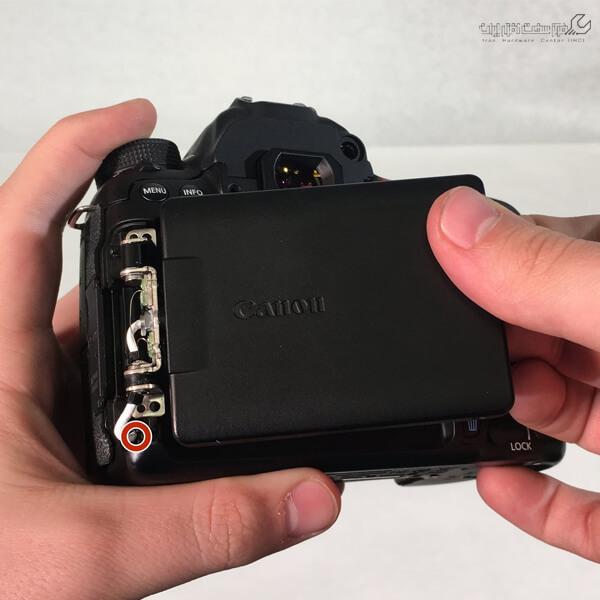 تعمیر صفحه نمایش دوربین فیلم برداری کانن