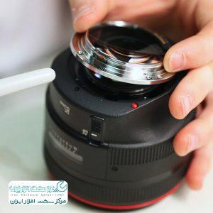 تعویض لنز دوربین کانن
