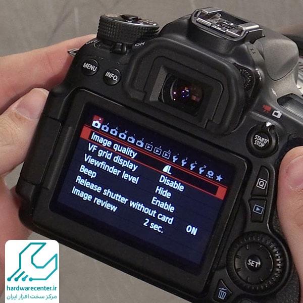 ریست فکتوری دوربین کانن